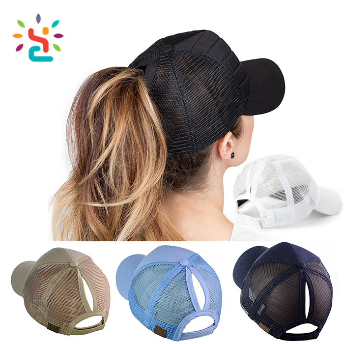 Wholesale Customized Personalized Beanie Baseball Ponytail Cap