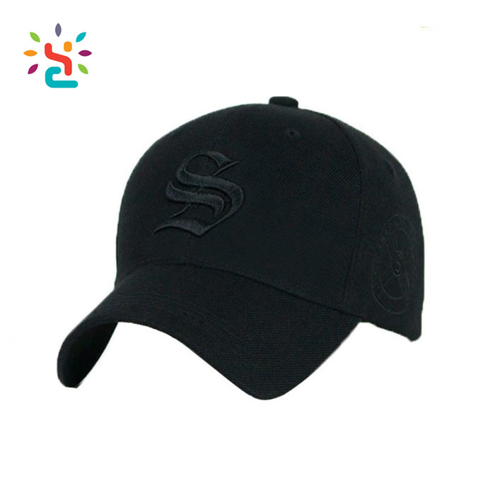 High Quality Baseball Cap Promotional Embroidery Black Sport Baseball Cap Custom New Embroidered Baseball Era Cap