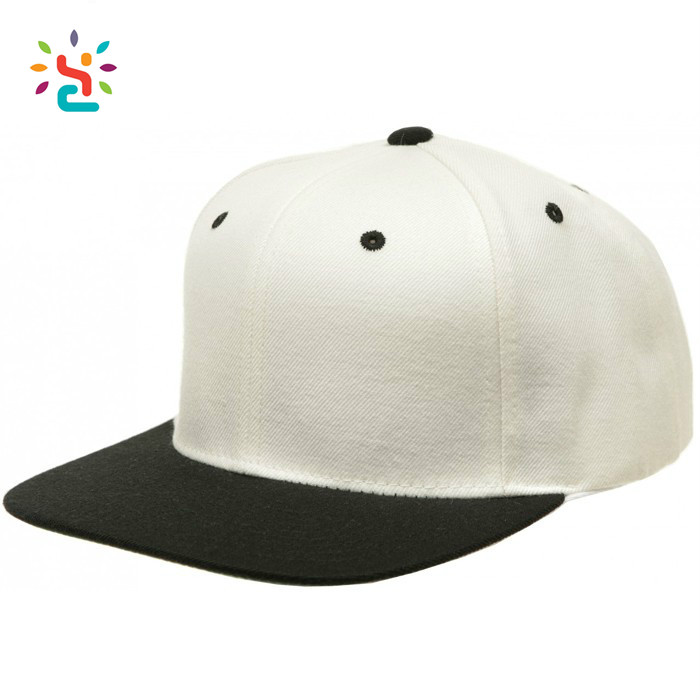 Custom Solid Color Snapback Hats Blank Two Tone Bulk White Topi Snapback Wholesale Stocks