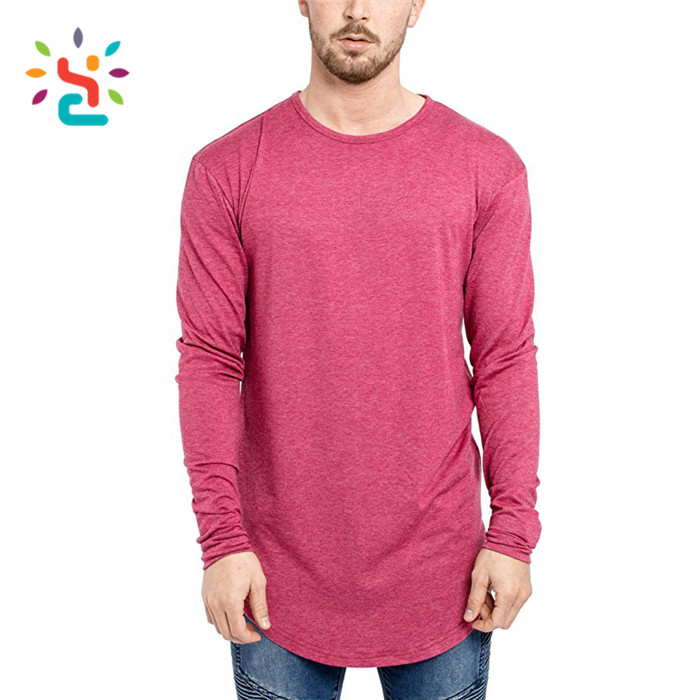 mens t shirt Curved Hem zipper Tall Tee basic Length oversized extended 92% polyester 8% spandex t shirt Hem tee