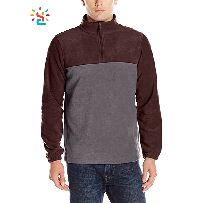 Custom Colorblock Hoody Jogging Suit Athletic Hoodies Men Thermal 1/4 Half Zip Pullover