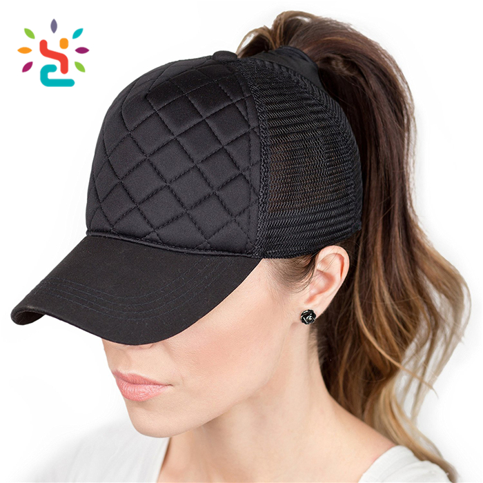 Wholesale Fashion Fancy black ponytail baseball cap