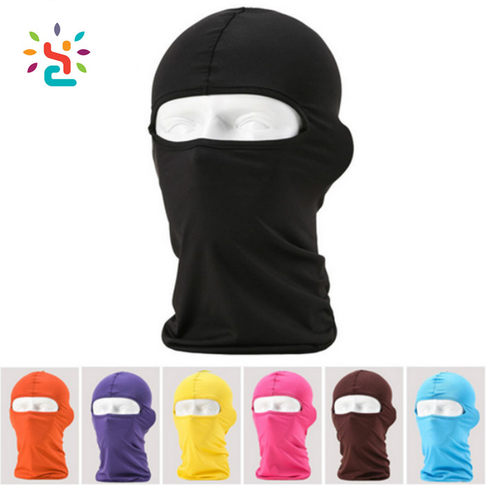 Outdoor Protection Lycra Balaclava Full Face Headwear Ski Balaclava With Neck Warmer Cycling Motorcycle Mask