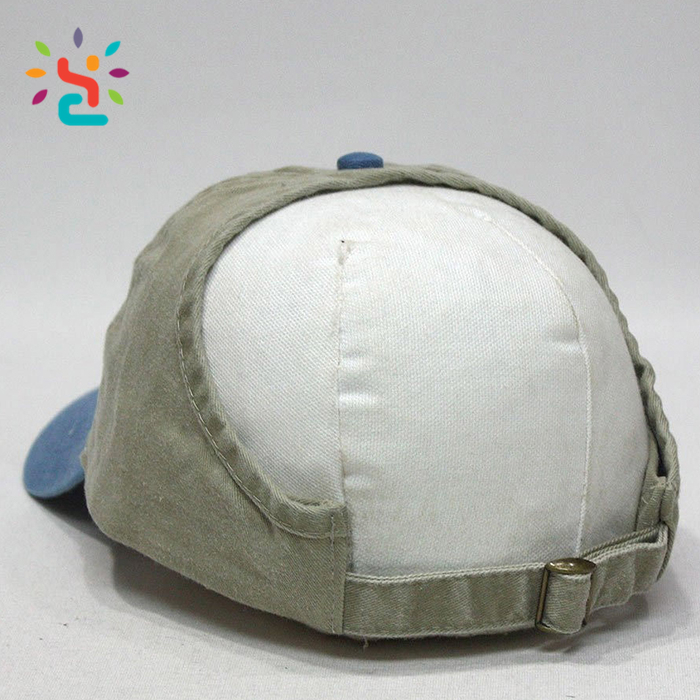 Fashion Ponytail hat Open Back Washed Brushed baseball cap custom patch sports outdoor fishing hats