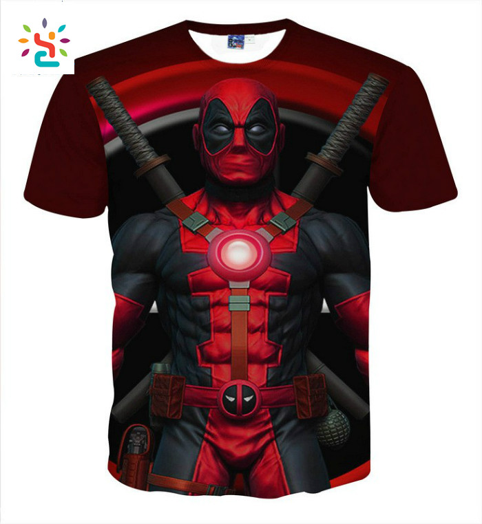 3d Anime Print Deadpool T Shirt Funny Graphic T-shirts,