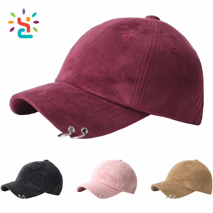 Blank Mixed Colors Unstructured Suede Dad Hats Baseball Caps