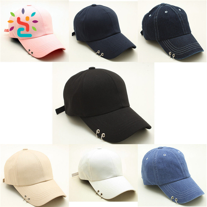Ring sport hat manufacturer high quality custom embroidered 100% cotton 6 panel Baseball Cap