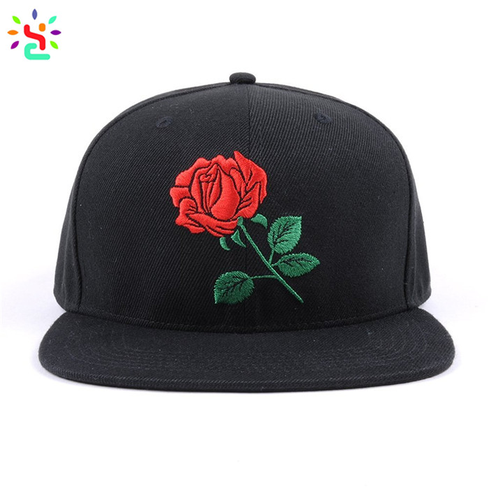 Custom embroidered snapback cap custom logo hats hip hop snapback hat 6 panel hats and caps custom