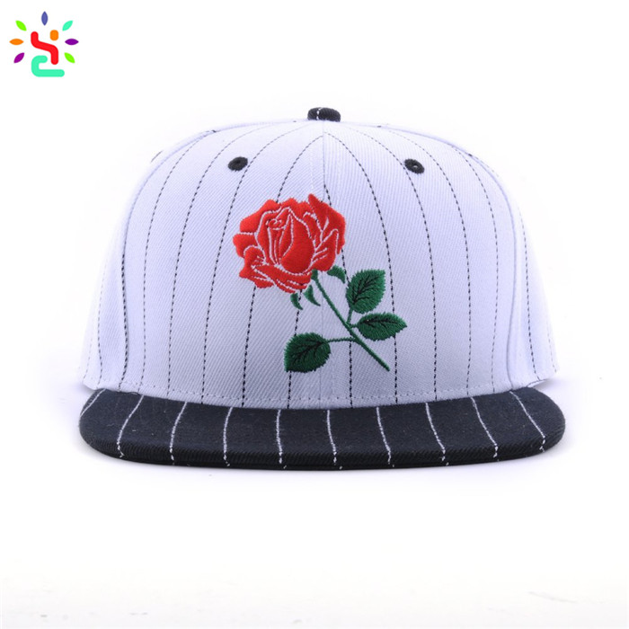 Custom embroidered hats snapback custom logo cap hip hop hat 6 panel baseball snapback hats and caps