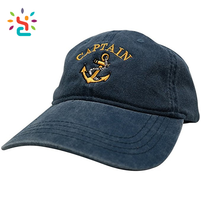 Custom distressed dad hat Wholesale kids dad hats 6 panel curve baseball cap with metal adjustable strap hats