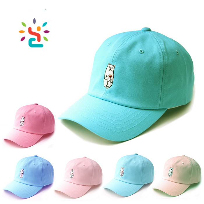 Premium plain dad hats blank custom 3D embroidery baseball cap men 6 lines sports caps with adjustable Metal buckle