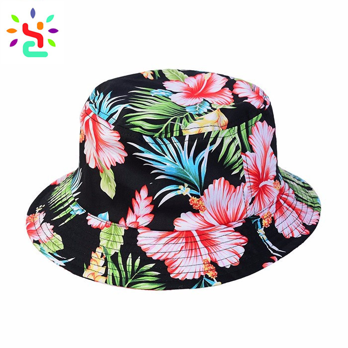 ... Custom printed bucket hats design your own beach hat women sun  protection hats and caps ... b605c5226bf8