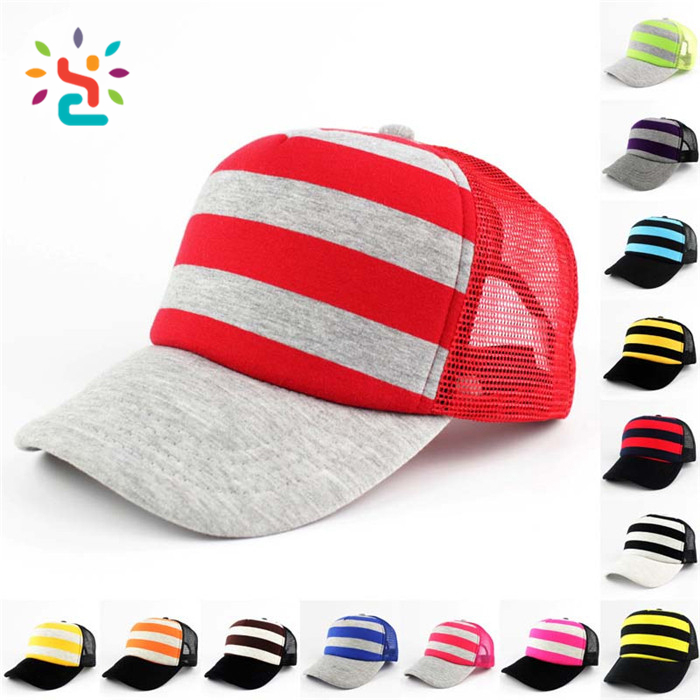 Wholesale truck cap 2017 mesh hat for advertising 6 panel baseball caps  colorful striped dad hat ... dfe1e90aaa9a