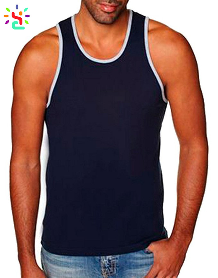 267ec4cae5e7d ... Fitness jersey tank top blank gym mens sigglet plain sleeveless t shirt  cotton tank tops wholesale ...