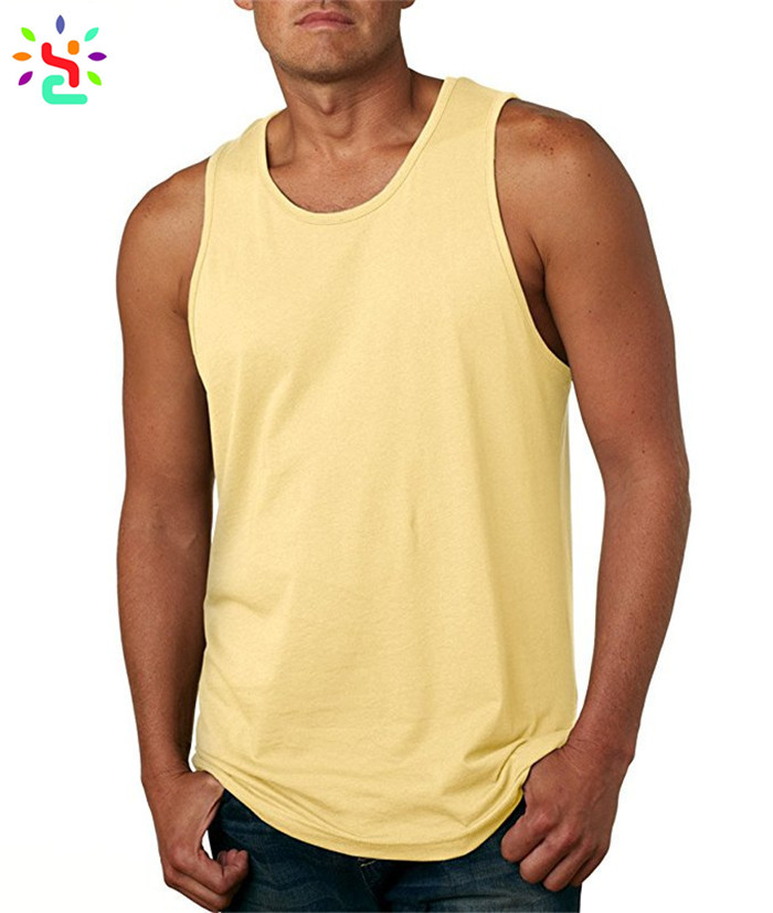 46cd09954f8b75 ... Fitness jersey tank top blank gym mens sigglet plain sleeveless t shirt  cotton tank tops wholesale ...