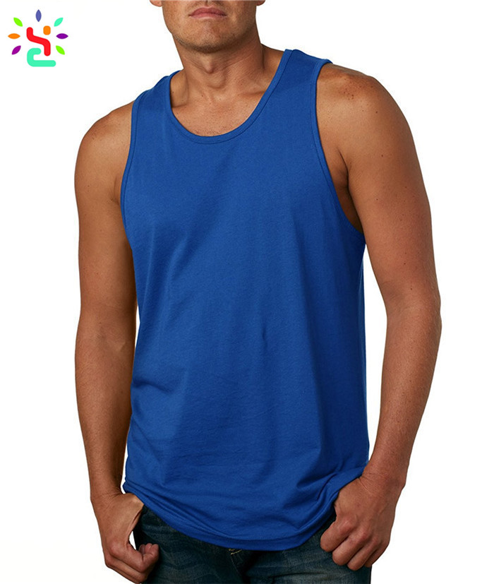 Fitness jersey tank top blank gym mens sigglet plain sleeveless t shirt cotton tank tops wholesale