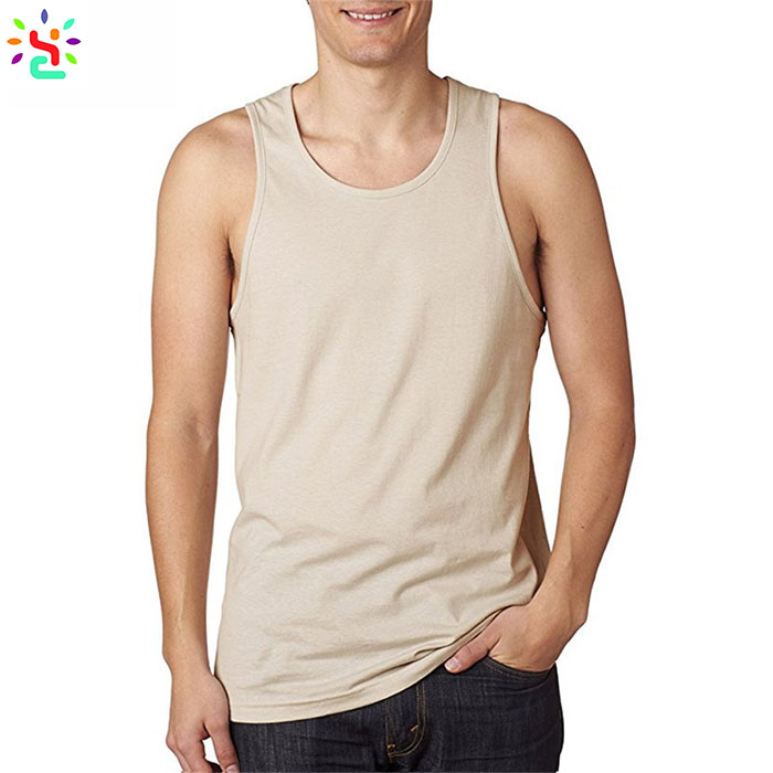 Solid color jersey tank top casual gym tank tops plain singlets in bulk sleeveless sweatshirt promotion