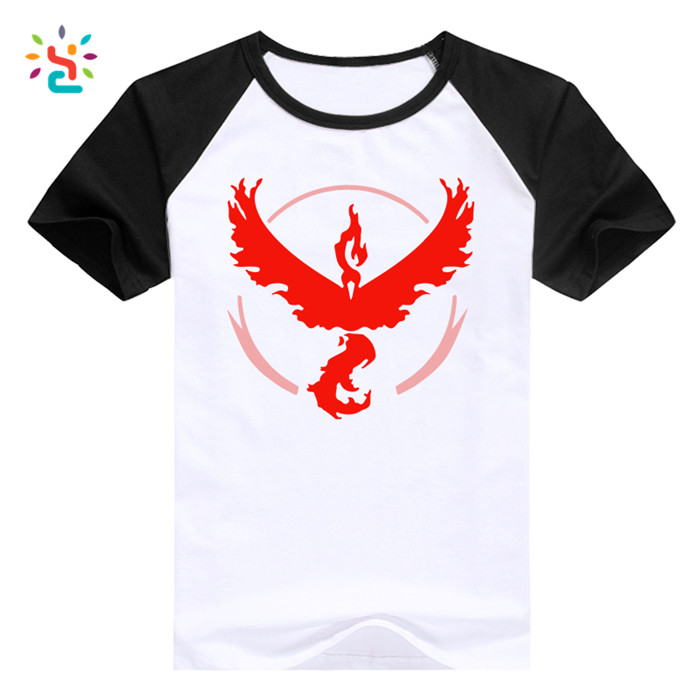Pokemon Go Raglan Cotton Tee Shirt