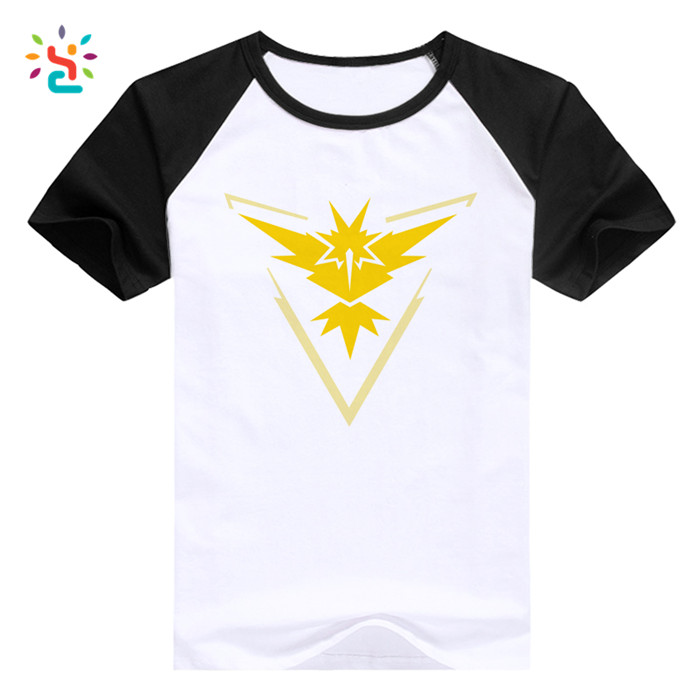 Summer Short Sleeved Pokemon T-shirt Printing Casual O-neck