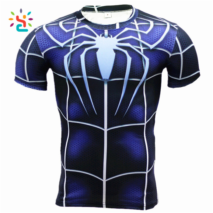 Spider Man The Avenger 3d Printed Dry Fit Short Sleeve Tee Shirt