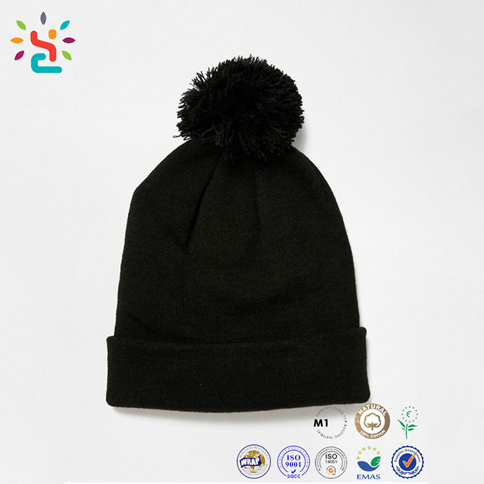 45e2a83f Winter Acrylic Beanie Caps Pom Good Quality Lovely Girl Knitted Crochet Hats  For Man Women