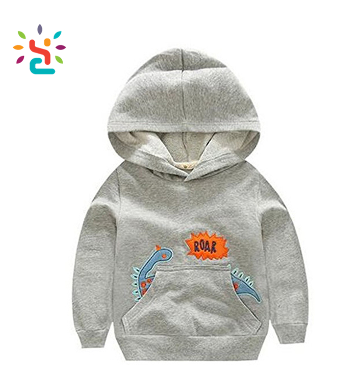 Kids Plain animal pattren Hoodies wholesale girl baby hoody