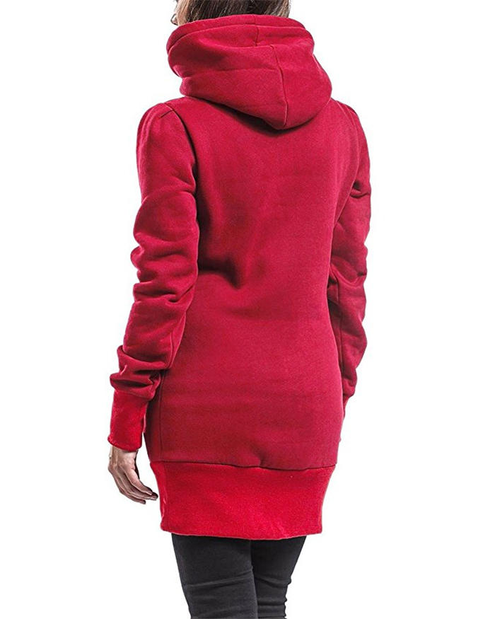 Hot sale women slim hoodie classic leisure solid color pullover colorful Package buttocks Sweatshirt ladies tops casual clothes