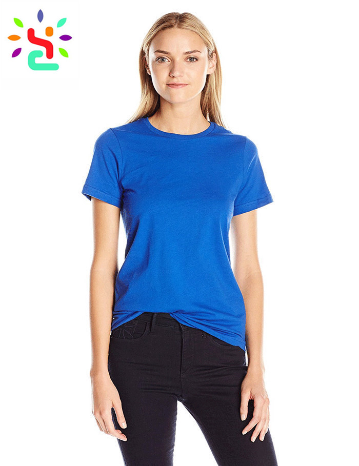 Classic tee shirt 100% cotton t shirt half sleeve blank t shirts for women crew neck tee on sale