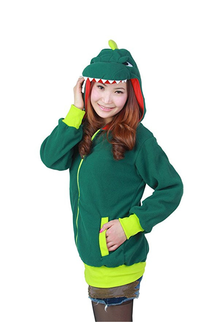 Zip Up Outerwear Zipper Animal Hoodie Unisex Adult Family Sports Jacket With Pockets
