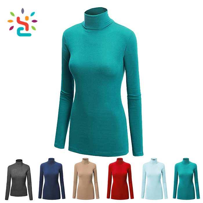 Handmade sweaters super soft hoodie pullover 100% cashmere women with high neck sweater plain solid colors
