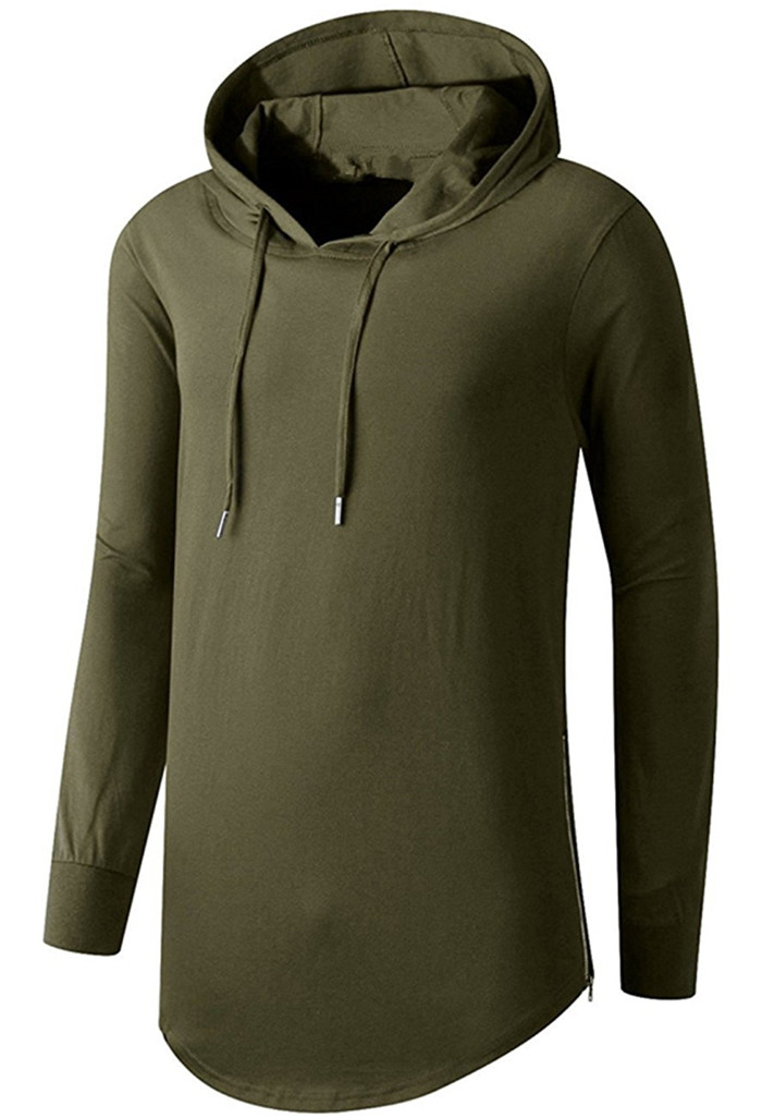 100% cotton men hoodies hip hop hooded shirt solid color long sleeve rounded hemline pullover hoodie wholesale