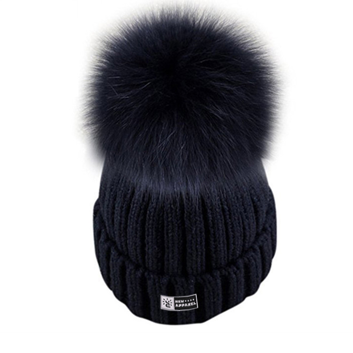 02e24be480873 Custom The Purple Pom Beanie Hats Women Winter Wholesale Polyester Knitted  Pom Pom Slouchy Cap Fur ...