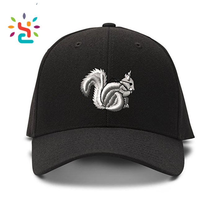 Squirrel embroidery baseball cap,Embroidery Logo Baseball Cap,baseball hat,fresh yoga,new apparel