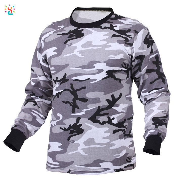 wholesale camo long sleeve t shirts,army t shirts,60 cotton 40 poly camo t shirt,new apparel,freshyoga