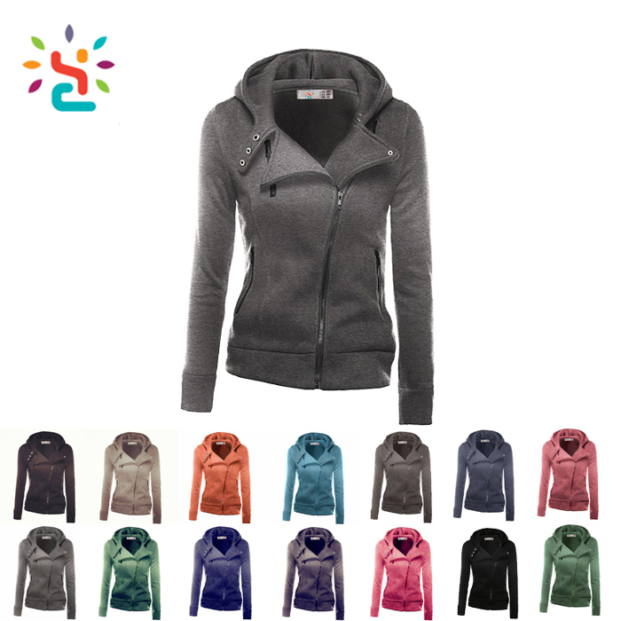 side zipper hoody,Sexy girls hoodies,girls zipper hoodies,dri fit hoodie,plain zipper sweatshirt,no logo hoody,fresh yoga,new apparel